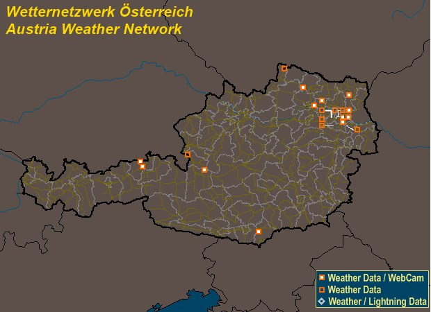 Mesomap of Austria Weather Network Stations